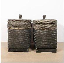 Deuxamis.be - Bamboo basket dark square - 1