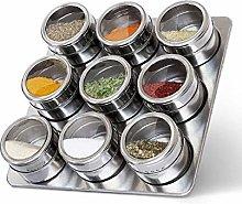 Devam Stainless Steel 9 Pcs Magnetic Spice