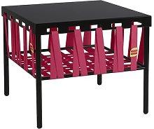 Devante Side Table Ebern Designs Colour: Black