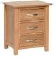 Devon Oak Bedside Cabinet Fully Assembled