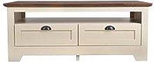 Devon Storage Coffee Table - Ivory/Walnut Effect