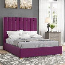 Devon Upholstered Bed Frame Canora Grey Size: