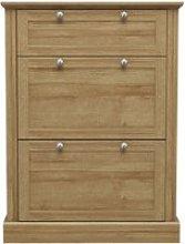 Devon Wooden Shoe Storage Cabinet In Oak With 3