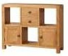 Devonshire Avon Avon Waxed Oak Low Display Cabinet