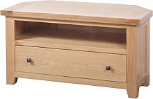Devonshire Corner TV Cabinet Solid Oak Fully