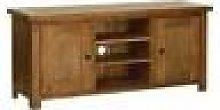 Devonshire Rustic Oak Large TV Cabinet with Doors