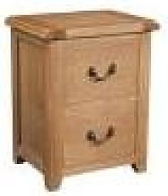 Devonshire Somerset Somerset Waxed Oak 2 Drawer
