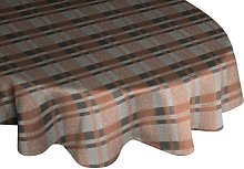 Devore Tablecloth Union Rustic Colour: Brown, grey