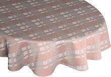 Devore Tablecloth Union Rustic Colour: Pink/Grey