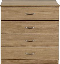 devoted2home Chest of Drawers with Silver Handle