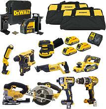 DeWalt 18V 10 Piece Power Tool Kit with 3x 2.0Ah