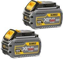 Dewalt 6.0Ah Battery * X 2 * Flexvolt 54V/18V