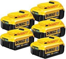 DeWalt DCB182 18v XR 4.0Ah Battery - 5 Pack