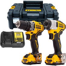 DeWalt DCK2110L2T 12V Brushless Drill Driver and