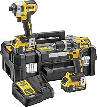 Dewalt DCK266P2T Combi Drill and Impact Driver Kit