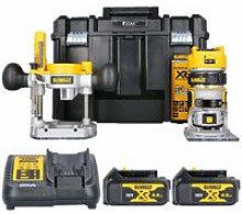 Dewalt DCW604NT 18V Router With Extra Base, 2 x