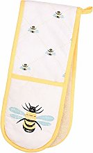Dexam Bees Knees Double Oven Glove, Yellow