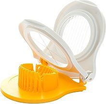 Dexam Egg wedger and Slicer, Yellow/White, 16.5 x