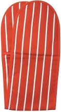 Dexam - Red Butchers Stripe Double Oven Glove -