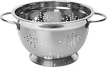 Dexam Stainless Steel Footed Colander, Silver, 22