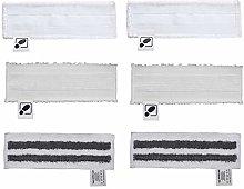 DEYF 2 New Microfibre Floor Cloths + 2 Terry Cloth