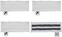 DEYF 3 White Microfibre Floor Cloth Set + 1 Grey