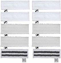 DEYF 4 New Microfiber floor towels + 4 terry