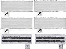 DEYF 4 White Microfibre Floor Cloth Set + 2 Grey