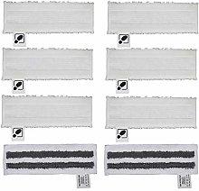 DEYF 6 White Microfibre Floor Cloth Set + 2 Grey