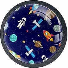 DEYYA Colorful Spaceships Crystal Glass Cabinet