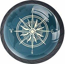 DEYYA Compass Crystal Glass Cabinet Door Knobs