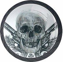 DEYYA Cool Skull Crystal Glass Cabinet Door Knobs