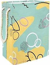 DEYYA Yellow Finger Bubble Laundry Baskets Hamper