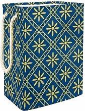 DEYYA Yellow Flower Laundry Baskets Hamper Tall