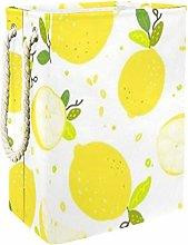 DEYYA Yellow Lemon Branch Laundry Baskets Hamper