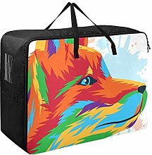 DEZIRO Fox Art Clothes Bags for Storage