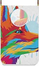 DEZIRO Fox Art Door Hampers for Dirty Clothes