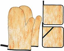 Dfform Oven Mitts and Pot holders 4pcs