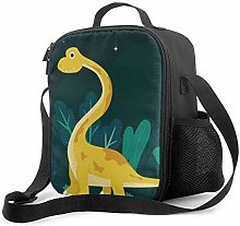 DFGA Cute Yellow Brontosaurus Pattern Lunch Bag