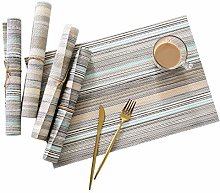 DFGH PVC Placemats Heat Insulation Dining Table