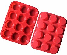 Dfghbn Baking Mould 12 Even Cup Silicone Cake Mold