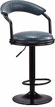 DFJKE Bar Chair Rotary Chair High Stool Front Desk