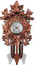DFLKP Handmade Wooden Cuckoo Wall Clocks, Swing