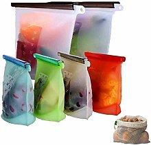 DflowerK Reusable Silicone Food Bags, Premium