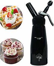 DFP Black Whipped Cream Dispenser; Mousse Siphon