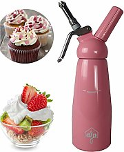 DFP Pink Whipped Cream Dispenser; Mousse Siphon