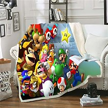 DFTY Super Mario Blanket Fleece Blanket Super Soft