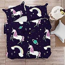DFTY Unicorn Baby Children's Bedding Set Girls