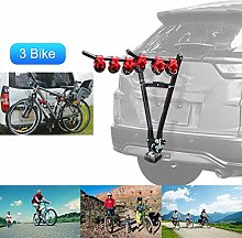 DGDG Car Foldable 3 Bike Carrier Rear Hitch Mount