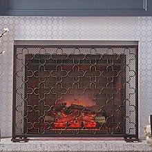 DGHJK Fireplace Screens Antique Copper/Black